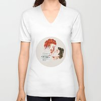 eternal sunshine of the spotless mind V-neck T-shirts featuring Eternal Sunshine of the Spotless Mind by rebeccalbe