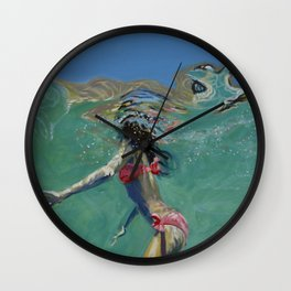 """Where is the cliff?"" Wall Clock"