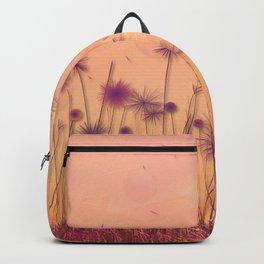Dreamy Violet Dandelion Flower Garden Backpack