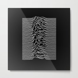 Joy Division - Unknown Pleasures Metal Print