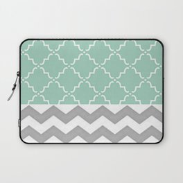 Green and Grey Laptop Sleeve