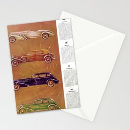 1935 Esquire New Year Car Preview No. 2: Auburn, De Soto, Caddy, Chrys Airstream, Airflow & others Stationery Cards
