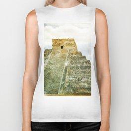 Chichen Itza pyramid Biker Tank