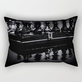 Contemplating Your Next Move when reflecting make sure your memories are clear Rectangular Pillow