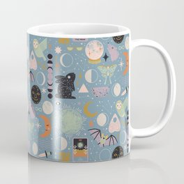 Lunar Pattern: Blue Moon Coffee Mug