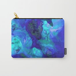 Violet Blue - Abstract Art By Sharon Cummings Carry-All Pouch