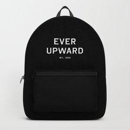 Ever Upward - NY, USA (Black Motto) Backpack