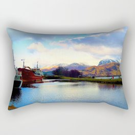Four Seasons in One Day over Ben Nevis Rectangular Pillow