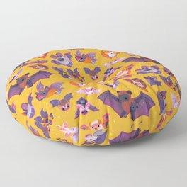 Bat - yellow Floor Pillow