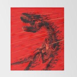 Extinction of a T Rex Throw Blanket