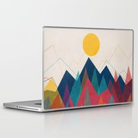 mountain Laptop & iPad Skins featuring Uphill Battle by Picomodi