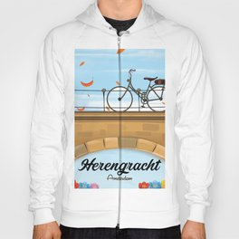 Herengracht Amsterdam Canal Poster. Hoody