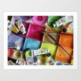 Messy Palette ~ Painter's Palette Art Print
