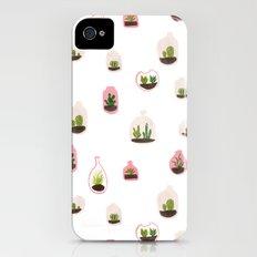 pink terrariums iPhone (4, 4s) Slim Case