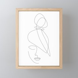 Hairstyle Lines Framed Mini Art Print