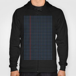 Dotted Grid Red and Blue Hoody