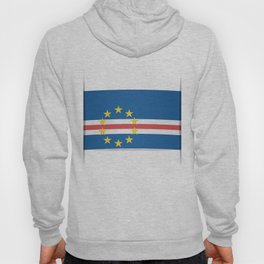 Flag of Cape Verde, officially the Republic of Cabo Verde. The slit in the paper with shadows. Hoody