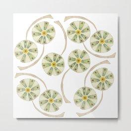 Flower Circle Metal Print