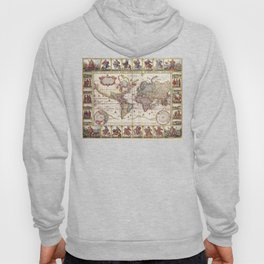 1652 Map of the World, Doncker Sea Atlas World Map Hoody