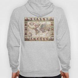 1652 Map of the World, Doncker Sea Atlas World Map Hoody
