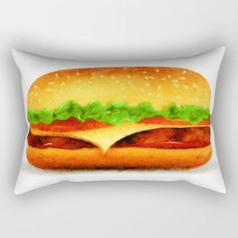 Tasty burger Rectangular Pillow