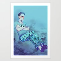 dishonored Art Prints featuring [disgruntled whale sounds] by Adamina Costa