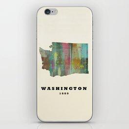 Washington state map modern iPhone Skin