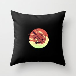 Nge Eve Throw Pillow