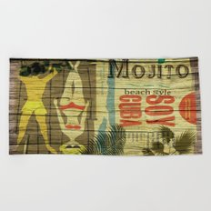 mojito beach style soy cuba Beach Towel