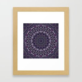 Purple, Gray, and Black Kaleidoscope 2 Framed Art Print