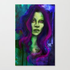 Galaxy within Her Canvas Print