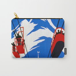 Vintage French Alps Gondola ski ad Carry-All Pouch