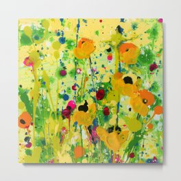 Deep In The meadow by Kathy Morton Stanion Metal Print