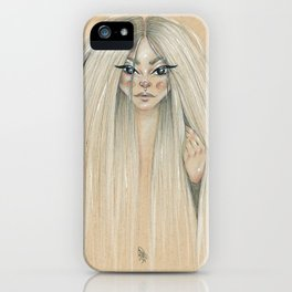 Messy hair dont care iPhone Case