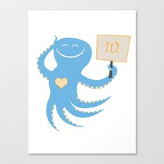Squid of Yes Canvas Print