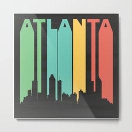 Vintage Atlanta Cityscape Metal Print
