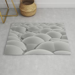 grey 3D Spheres crossover Rug