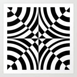 Geometric abstraction: chess? Art Print