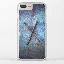Two Nails Clear iPhone Case