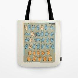 American Sign Language Tote Bag