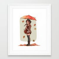 laia Framed Art Prints featuring Autumn by Laia™