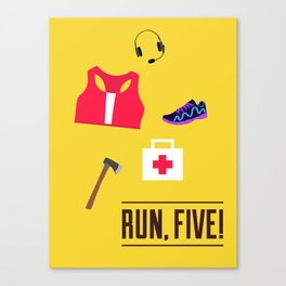 ZR: Run, Five! Canvas Print