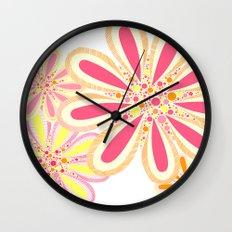 Petals and Dots Wall Clock