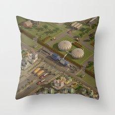 Biogas City Throw Pillow