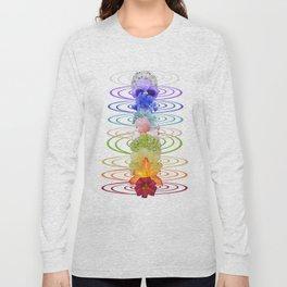 Chakra Flowers Long Sleeve T-shirt