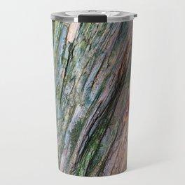 Water Colored Wood Texture Travel Mug