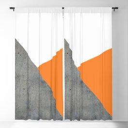 Concrete Tangerine White Blackout Curtain