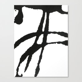 0523: a simple, bold, abstract piece in black and white by Alyssa Hamilton Art Canvas Print