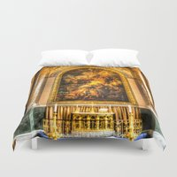 college Duvet Covers featuring Royal Naval College Greenwich  by David Pyatt