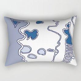 Blue Ceiba Rectangular Pillow